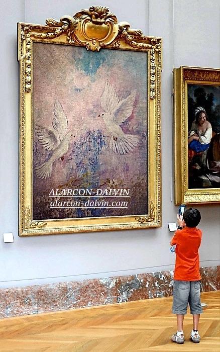 les-colombes-tableau-danielle-alarcon-dalvin-saint-paul-de-vence